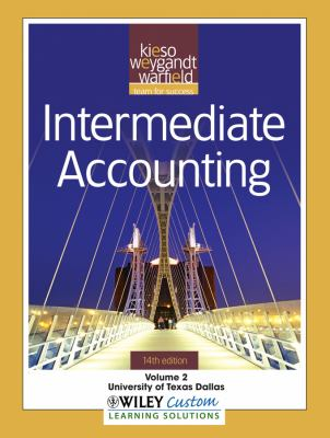 Intermediate Accounting, Volume 2: University of Texas Dallas 9781118107119