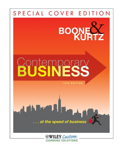 Contemporary Business, Special Cover Edition 9781118114070