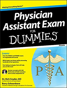 Physician's Assistant Exam for Dummies, with CD 9781118115565