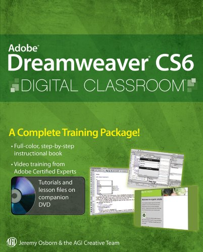 Adobe Dreamweaver CS6 Digital Classroom [With DVD ROM] 9781118124093