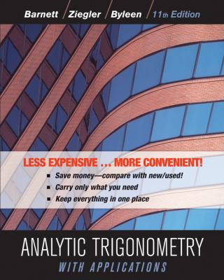 Analytic Trigonometry with Applications 9781118129296