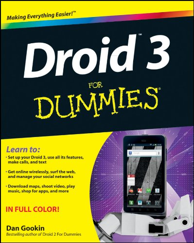 Droid 3 for Dummies 9781118157213