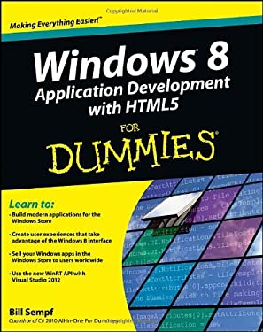 Windows 8 Application Development with Html5 for Dummies 9781118173350