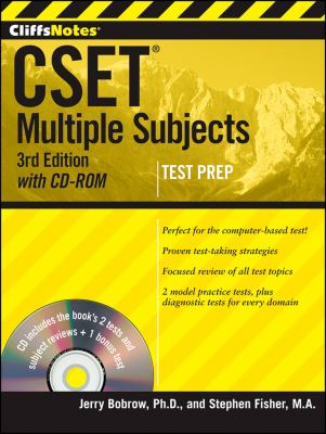 Cliffsnotes Cset,: Multiple Subjects [With CDROM] 9781118176535