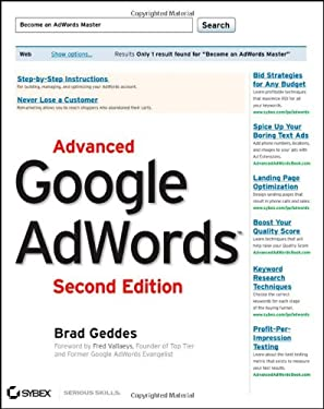 Advanced Google Adwords 9781118194508