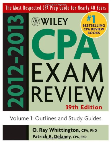 Wiley CPA Examination Review, Volume 1: Outlines and Study Guides 9781118254493