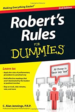 Robert's Rules for Dummies 9781118294048