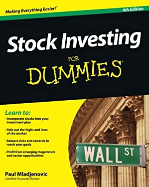 Stock Investing for Dummies 9781118376782