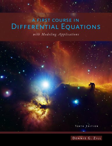 A First Course in Differential Equations with Modeling Applications 9781111827052
