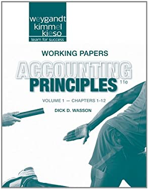 Accounting Principles, Working Papers, Volume 1 9781118342237