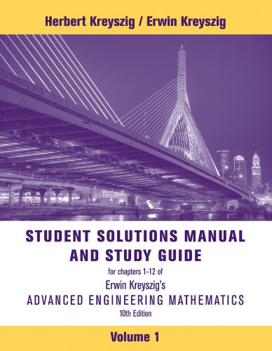 Advanced Engineering Mathematics, Student Solutions Manual 9781118007402