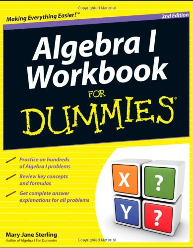 Algebra I Workbook for Dummies 9781118049228