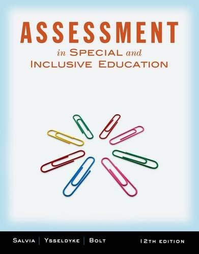 Assessment: In Special and Inclusive Education 9781111833411