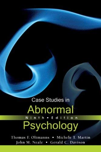 Case Studies in Abnormal Psychology 9781118086193