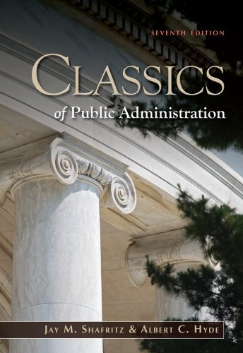 Classics of Public Administration 9781111342746