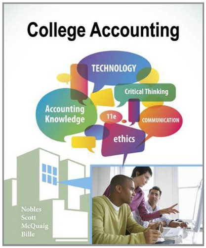 College Accounting, Chapters 1-12 9781111528126