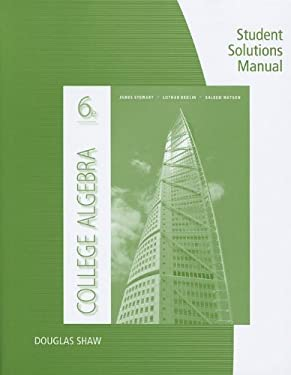 College Algebra Student Solutions Manual 9781111990244