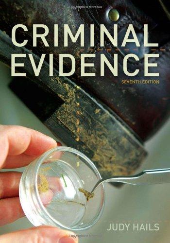 Criminal Evidence 9781111346935