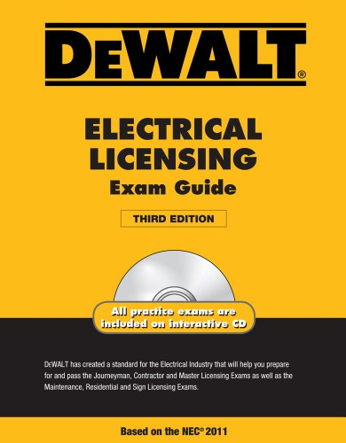 Dewalt Electrical Licensing Exam Guide [With CDROM] 9781111545505