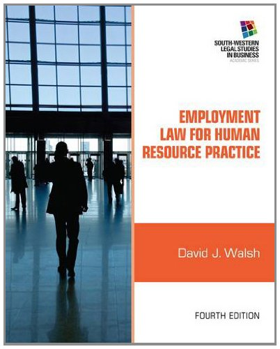 Employment Law for Human Resource Practice 9781111972196