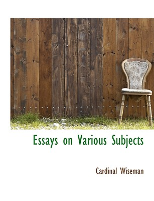 essays on diverse subjects