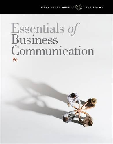Essentials of Business Communication (with WWW.Meguffey.com Printed Access Card) 9781111821227