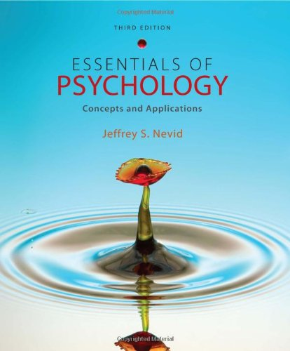 Essentials of Psychology: Concepts and Applications 9781111301217