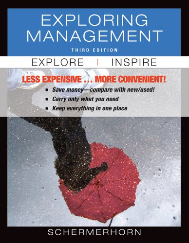 Exploring Management 3rd Edition Binder Ready Version 9781118129357