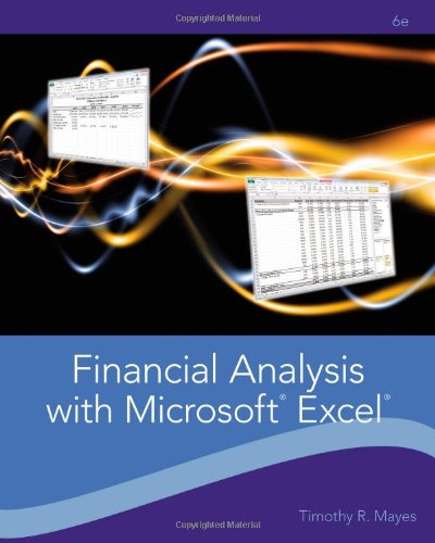 Financial Analysis with Microsoft Excel 9781111826246