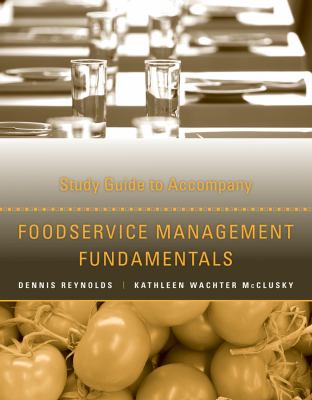 Foodservice Management Fundamentals, Study Guide 9781118363348