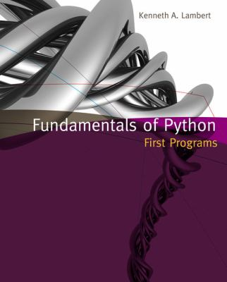 Fundamentals of Python: First Programs 9781111822705