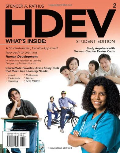 Hdev (with Psychology Coursemate with eBook Printed Access Card) 9781111519827