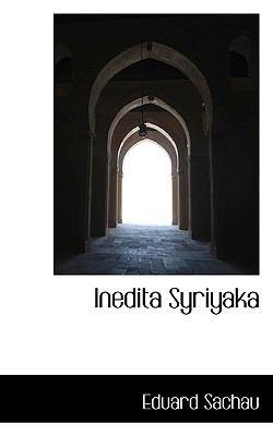 Inedita Syriyaka 9781117258584