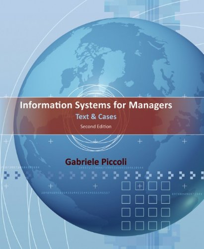 Information Systems for Managers: Text and Cases 9781118057612