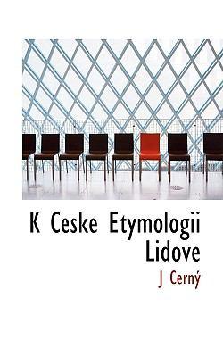 K Ceske Etymologii Lidove 9781117438801