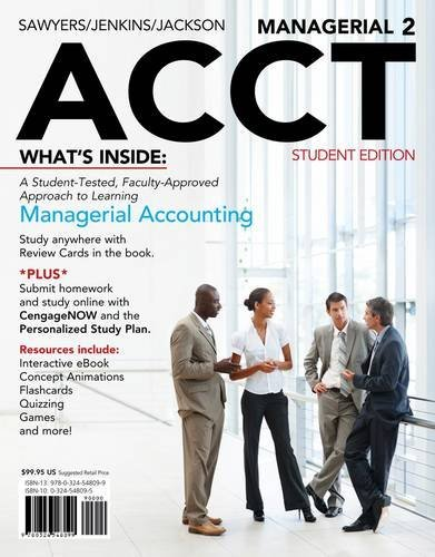Managerial Acct2 (with Cengagenow with eBook Printed Access Card) 9781111822699