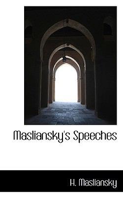 Masliansky's Speeches 9781117785578