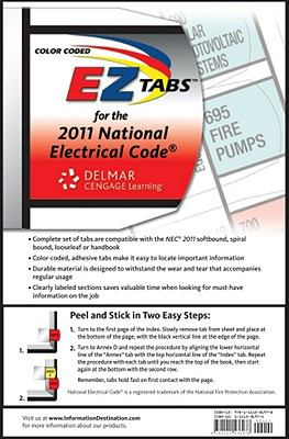 Color Coded EZ Tabs for the National Electrical Code 9781111536978