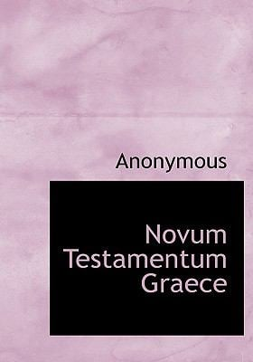 Novum Testamentum Graece 9781117789378