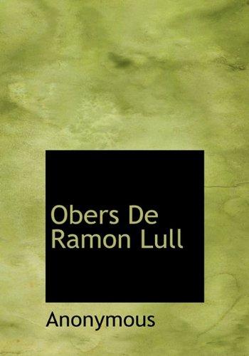 Obers de Ramon Lull 9781115620727