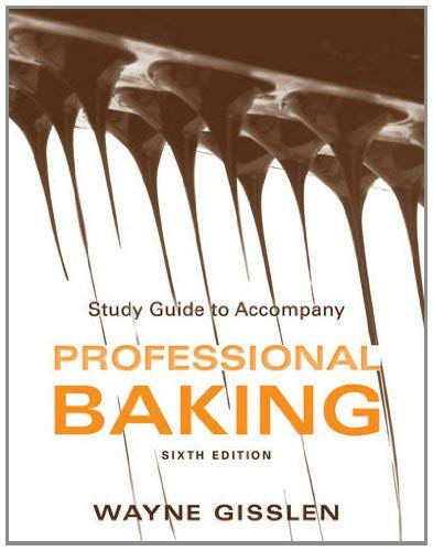 Professional Baking, Study Guide 9781118158333