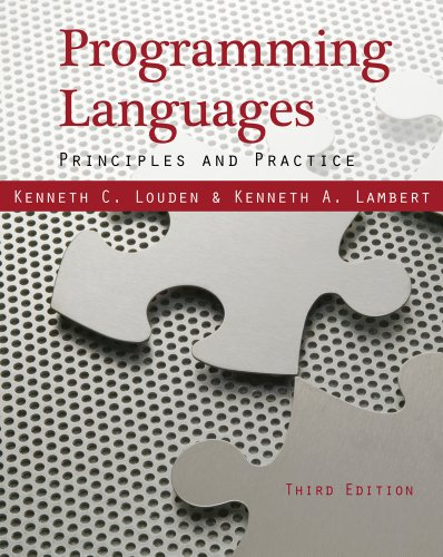 Programming Languages: Principles and Practices 9781111529413