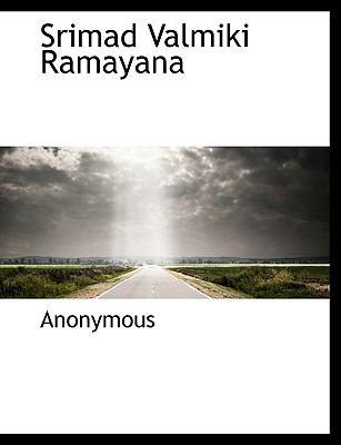Srimad Valmiki Ramayana 9781117989723