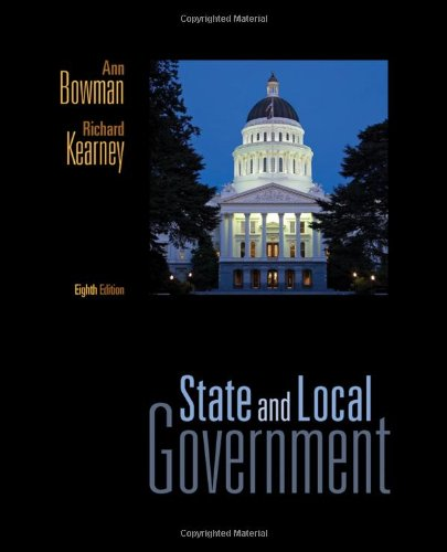 State and Local Government: The Essentials 9781111341497