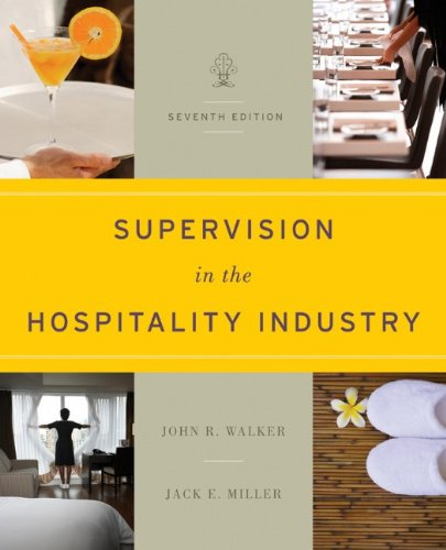 Supervision in the Hospitality Industry 9781118071786