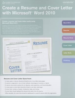 Create a Resume and Cover Letter with Microsoft Word 2010 9781133189206