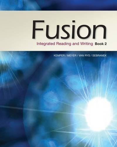 Fusion: Integrated Reading and Writing, Book 2 9781133312499