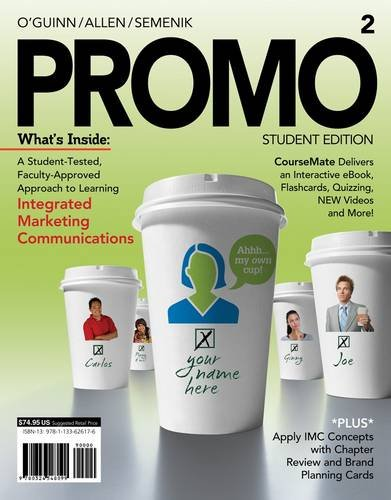 Promo2 (with Marketing Coursemate with eBook Printed Access Card) 9781133626176