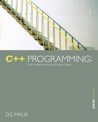 C++ Programming: From Problem Analysis to Program Design 9781133626381
