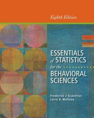 Essentials of Statistics for the Behavioral Sciences 9781133956570